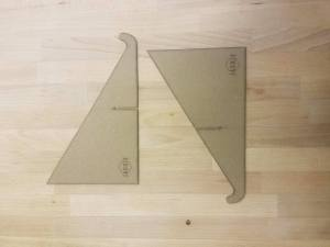 chipboard tablet stand traingles